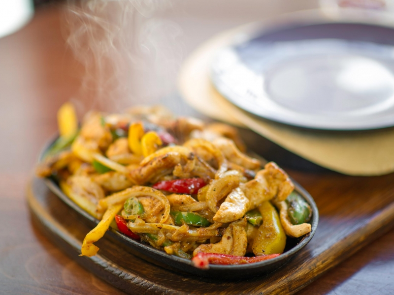 fajitas at Barnstaple Bistro 62 The Bank