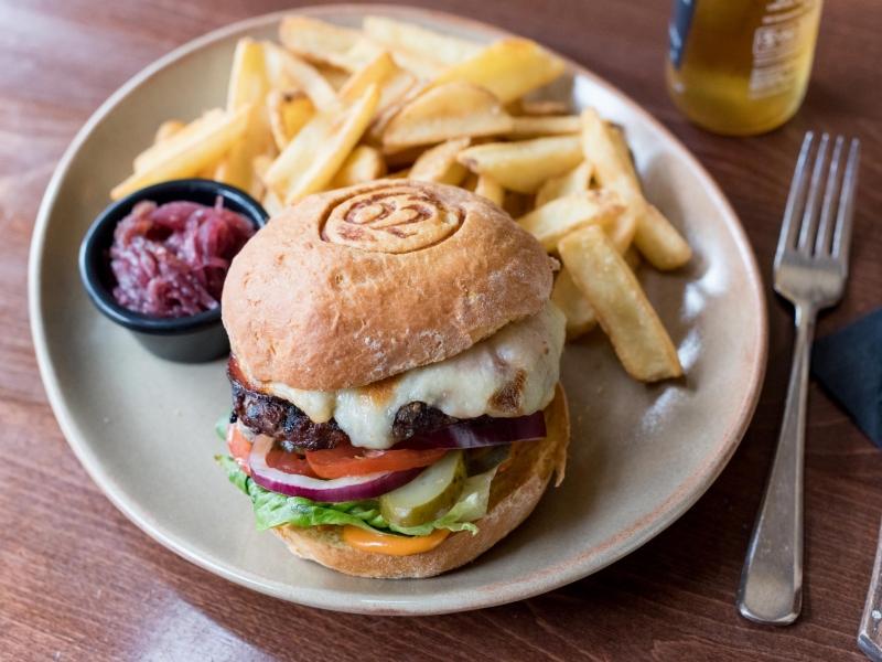 Burger at Barnstaple Bistro 62 The Bank